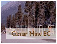 the mine and town of cassiar bc