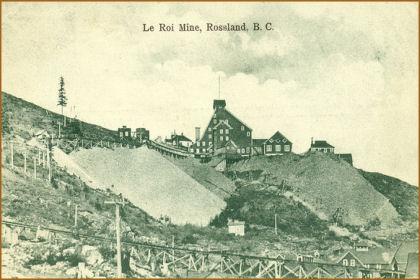 the leroi mine of rossland bc